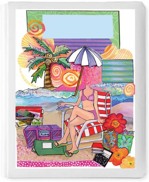 Personalized 3D Sign In Book, Girl On Beach
