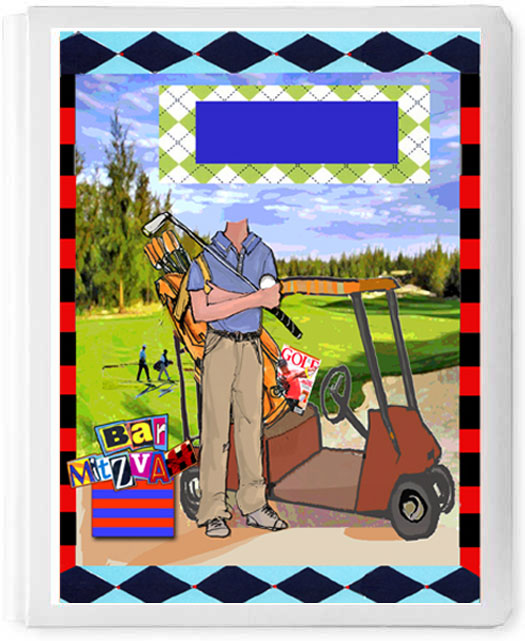 Personalized 3D Sign In Book, Golfer Boy