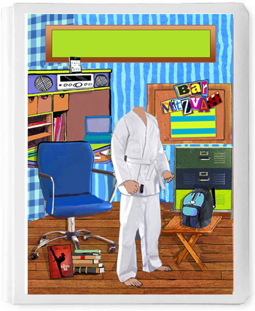 Personalized 3D Sign In Book, Karate Boy