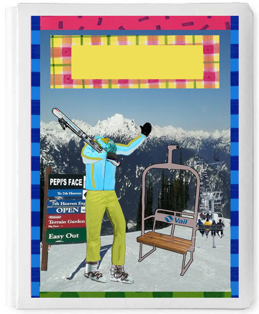 Personalized 3D Sign In Book, Skiing Girl