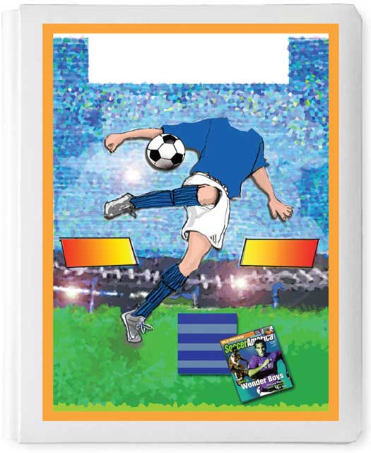 Personalized 3D Sign In Book, Soccer Boy