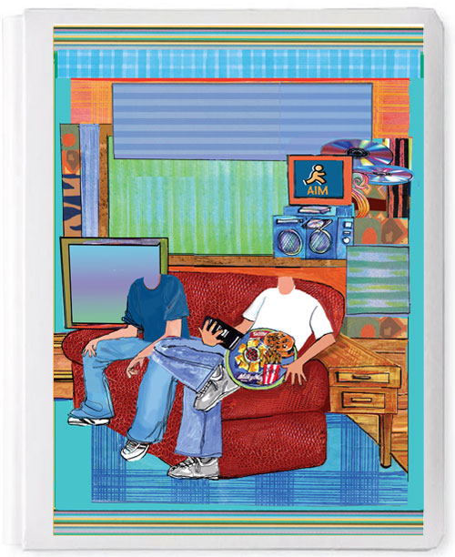 Personalized 3D Sign In Book, Twins (Boys)