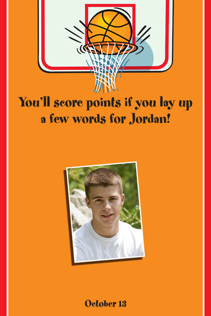 Basketball Hoops Theme Sign In Board / Leave the basketball star your autograph
