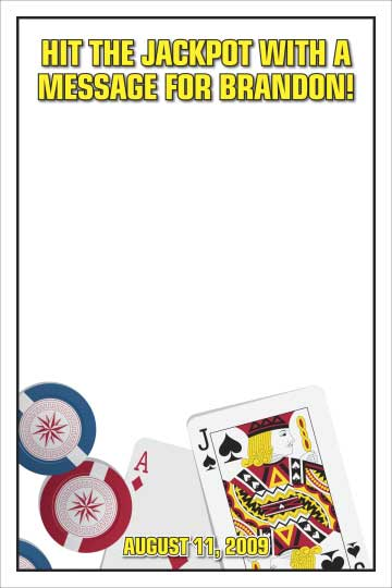 Casino Cards Theme Sign In Board
