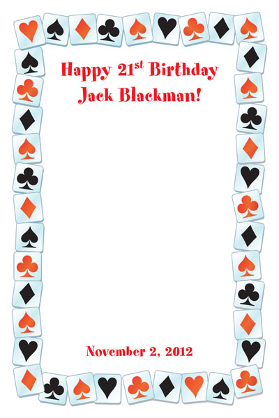 A Casino Party Theme Sign In Board