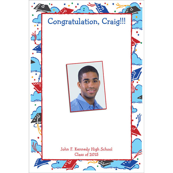 Graduation Picture Theme Sign In Board