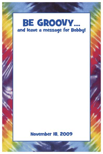 Hippie Tie Dye Sign In Board / A hip sign in board for a hippie theme party.