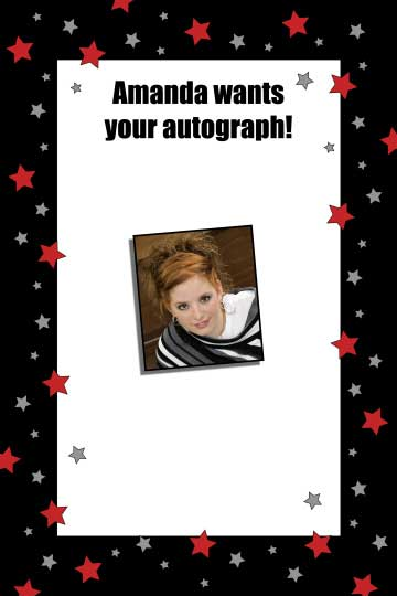Hollywood Star Sign In Board / Add your star's photo to this sign in board