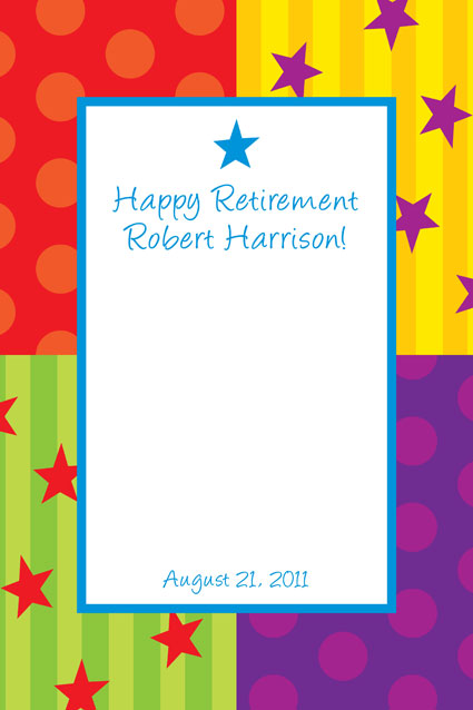A Retirement Celebration Sign in Board