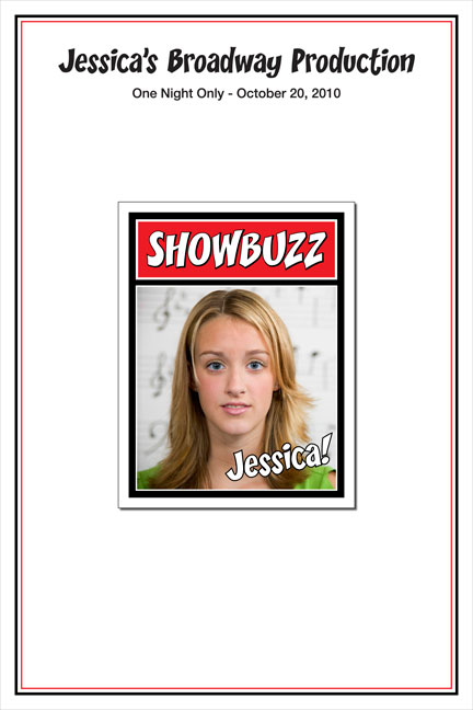 Broadway Showbuzz Sign In Board / Let your guests leave their autographs on the theme sign in board