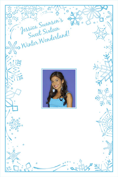 Snow Theme Party Sign in Board