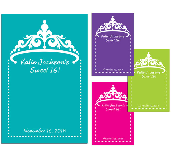 Tiara Theme Sign in Board / A tiara theme sign in board
