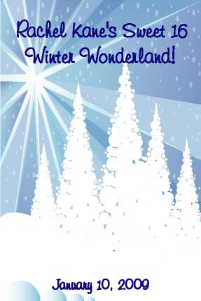 Winter Wonderland Sign In Board / A Winter Wonderland sign in board