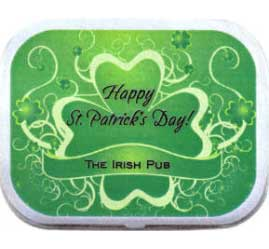 St. Patricks Day Green Shamrocks Theme Mint Tin / This mint and candy tin is a perfect party favor for your St. Pat's Party