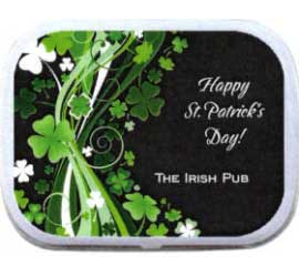 St. Patricks Day Shamrocks Theme Mint Tin / The perfect favor for St. Pat's Day party!