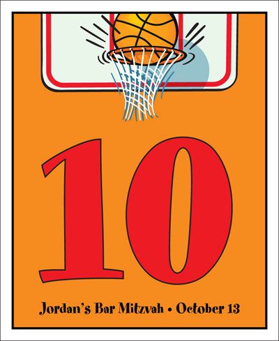 Basketball Hoops Theme Table Number / Show your guests where their seat is