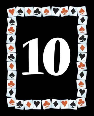 A Casino Party Theme Table Number