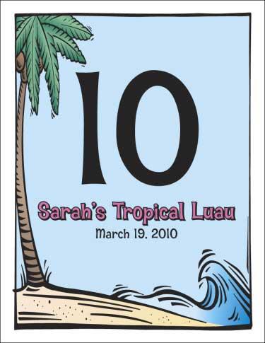 Luau Table Number