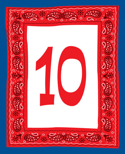 Western Bandana Table Number / Add a western touch to your table with these theme table number