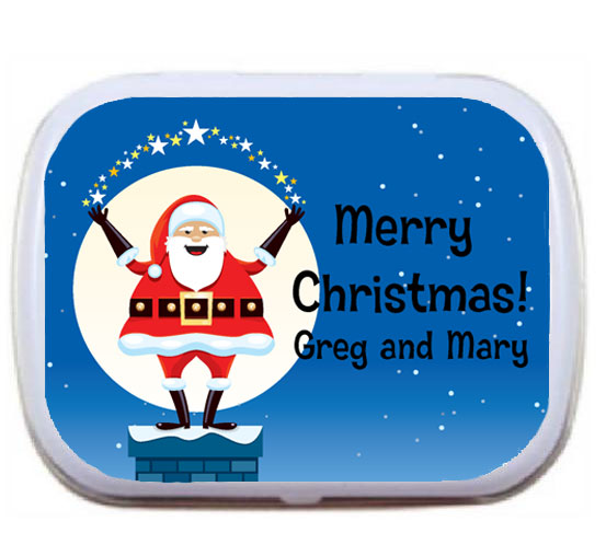 Christmas Santa Magic Mint Tin / I hear Santa likes mints as much as cookies.