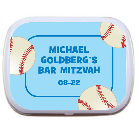 Baseball All Star Theme Mint and Candy Tin