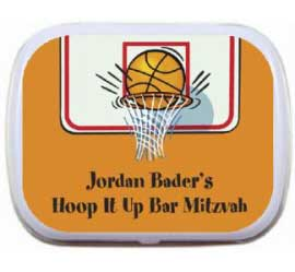 Basketball Hoops Theme Mint and Candy Tin / The party favor is a buzzer beater