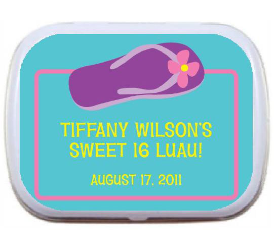 Flip Flop Theme Custom Mint Tin