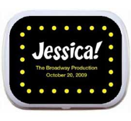 Broadway Lights Theme Mint and Candy Tin / A party favor fitting for your big night