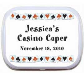 Casino Mint and Candy Tin / A tasty casino party favor that you personalize!