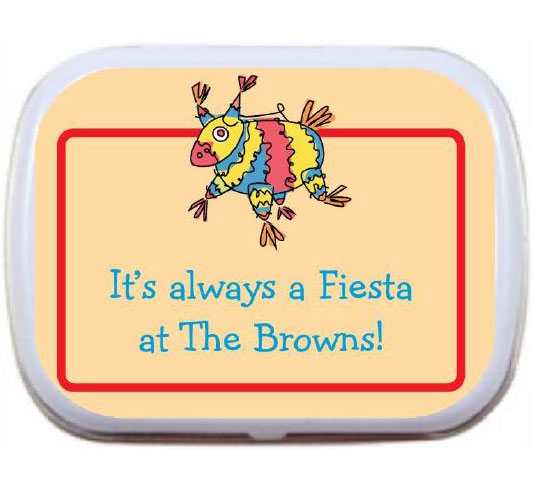 A Fiesta Theme Mint Tin / A fun pinata theme mint tin