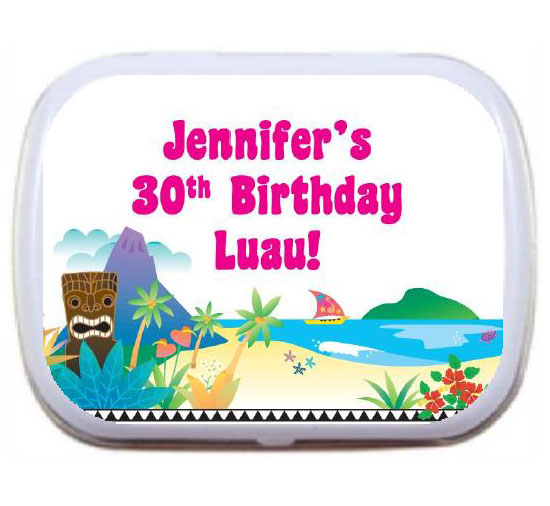 Luau Beach Theme Mint Tin / A tropical theme favor