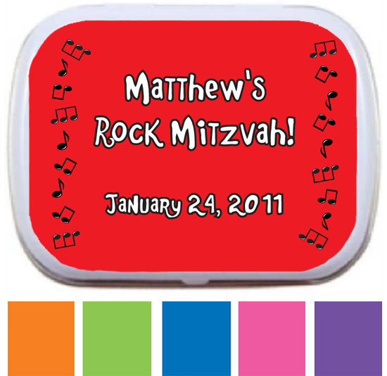 Rock n Roll Mint and Candy Tin / Perfect for a Rock N' Roll Themed Party!