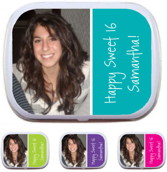 A Custom Sweet 16 Photo Mint Tin / A great photo favor for a Sweet 16