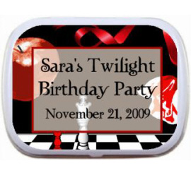 Twilight Mint and Candy Tin / A sweet Twilight party favor