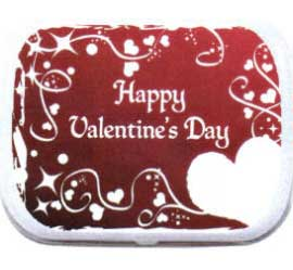 Valentines Day Theme Mint Tin, Red Hearts / This candy and mint tin is great for your Valentine's Day Party