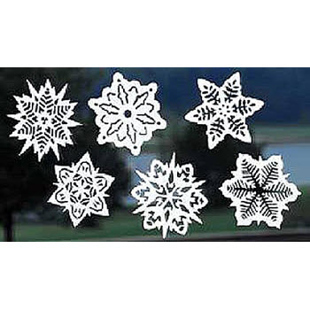 Snowflake Window Cling-On