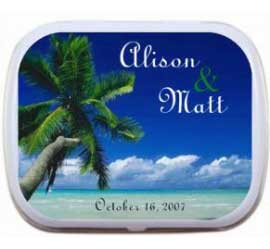 Mint Tin, Beach Scene Theme / A simple beach theme on a mint favor