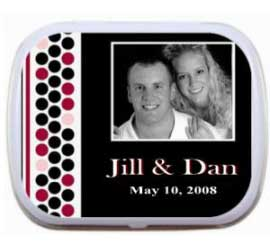 Photo Mint Tin with a Polka Dot Border