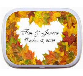 Fall Heart Theme Mint Tin