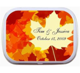 Fall Bright Leaves Theme Mint Tin / A great Fall theme mint tin
