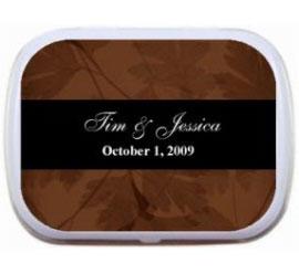 Fall Theme Mint Tin, Classic Brown and Black