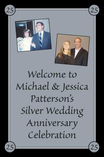 25th Anniversary Welcome Sign / A 25th Anniversary party photo welcome sign