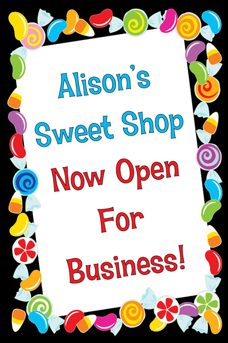 Candy Theme Welcome Sign / A candy theme welcome sign