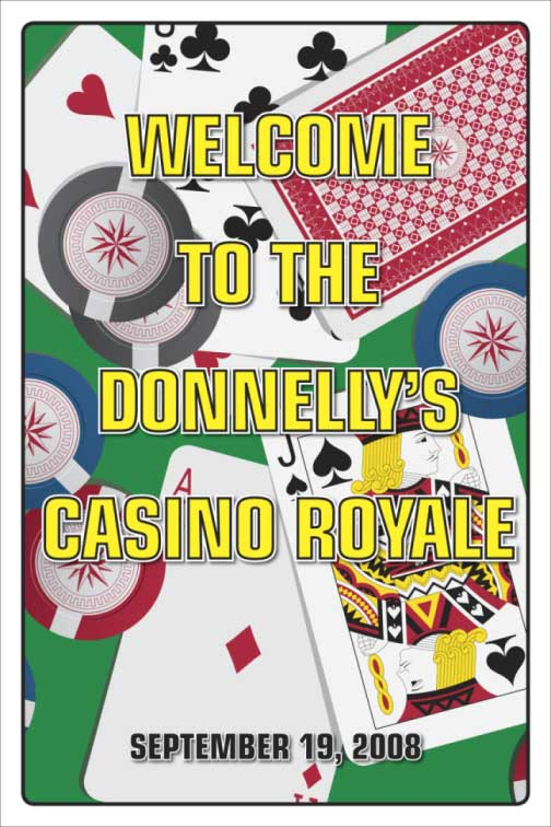 Casino Cards Theme Welcome Sign