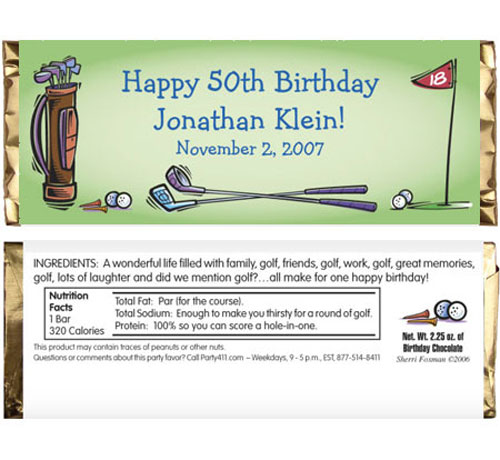 Golf Party Theme Candy Bar Wrapper / A fun favor for a golf par-tee