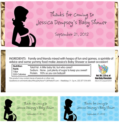 Baby Shower Mommy Theme Candy Bar Wrapper