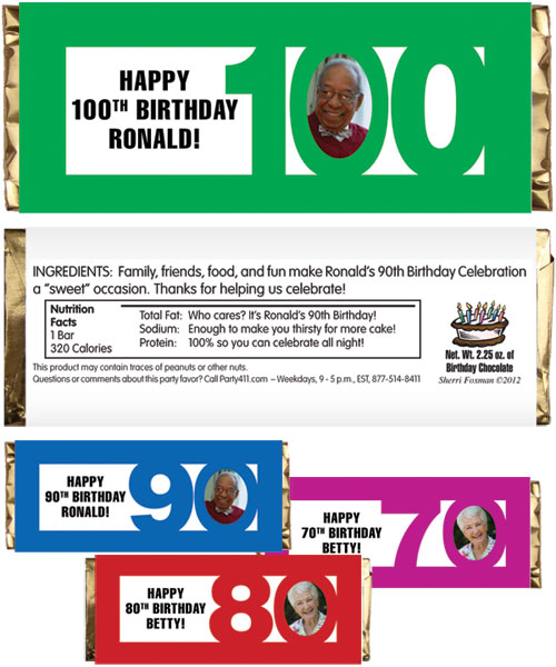Birthday Photo Milestone Theme Candy Bar Wrapper