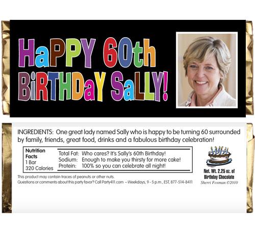 Birthday Celebration Theme Candy Bar Wrapper