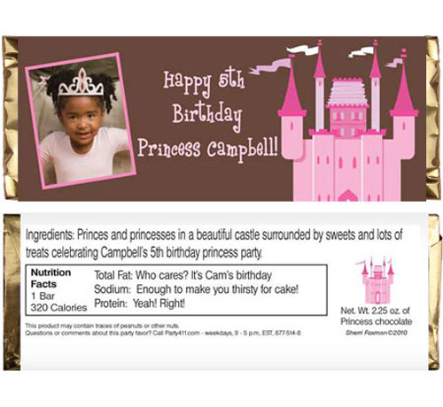 Birthday Castle Theme Candy Bar Wrapper / For your princesses and her princess friends.
