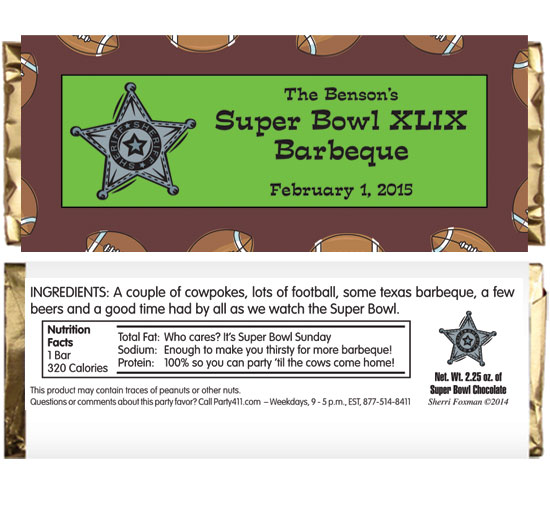 Football Texas Style Theme Candy Bar Wrapper / Everything is bigger and better in Texas!